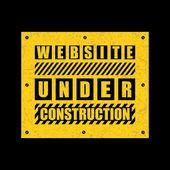 Under construction text. — Stock Vector