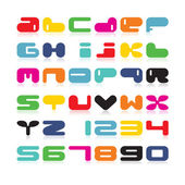 Color alphabet isolated on white. — Stok Vektör
