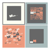 Stylish alphabet in frames. Letter M,Typographic elements. — Stock Vector