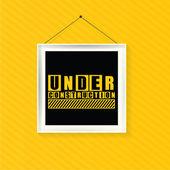 Under construction illustration in frame, — Stockvector