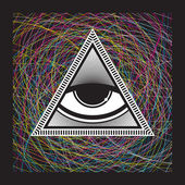 Eye in the Pyramid — Stock Vector