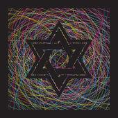 Israel religion sign — Stock Vector