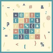Different alphabet symbols. — Stock Vector