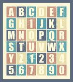 Stylish retro alphabet. — Stock Vector