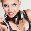 Young woman with headphone — Stock Photo #12587486