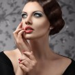 Retro style woman portrait — Stock Photo