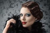 Retrato de mujer de estilo retro — Foto de Stock