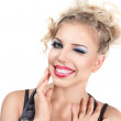 Cheerful girl - Stockfoto
