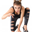 Stock Photo: Cat woman