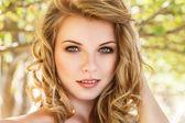 Outdoor girl portrait — Stock Photo