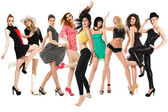Gelukkig dansende meisjes — Stockfoto