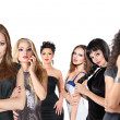 Group of young women isolated — Stockfoto
