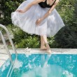 Beautiful ballerina outdoor — Stock Photo