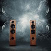 Powerful speakers — Stock Photo