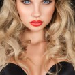 Beautiful blonde woman with long hair — ストック写真