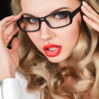 Young woman in glasses — Stockfoto