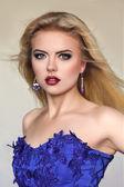 Young slim woman studio portrait — Stock Photo