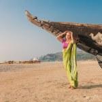 Young woman in indian sari — Stock Photo #39952481