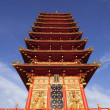MINH THANH , VIET NAM, 9 storey pagoda tower — Stock Photo