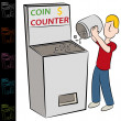 Stock Vector: Coin Counting Machine