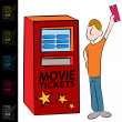 Royalty-Free Stock Vector Image: Movie Ticket Kiosk Machine