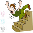 MFalling Down Flight of Stairs — Stock Vector #18853143