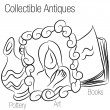 Stock Vector: Collectible Antiques Drawing
