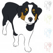 Stock Vector: Border Collie Puppy