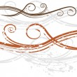 Royalty-Free Stock Obraz wektorowy: Elegant Wedding Invitation Swirl Background