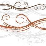 Elegant Wedding Invitation Swirl Background — Stock Vector