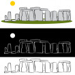 Stock Vector: Stonehenge Drawing