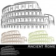 Roman Colosseum Set - Stock Vector