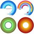 Wektor stockowy : Processing Wheel Chart Set