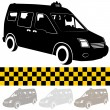 Taxi Shuttle VSilhouette — Stock Vector #18855163