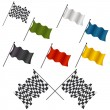 Racing Flag Set — Stock Vector