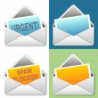 Email Icon Message Set — Stock Vector