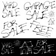 Grunge Sales Signs Set — Stock Vector