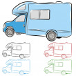 Stock Vector: RV Camper