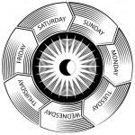 Time Wheel Engraving — Stock Vector
