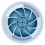 Swirl Circle Chart — Stock Vector