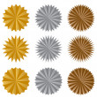 Starburst Sticker Set — Stock Vector