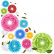Falling Flowers — Stock Vector