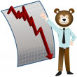 Bear Market — Stock Vector