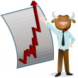 Stock Vector: Bull Market