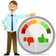 Stock Vector: Rating Meter Man