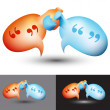 Chat Bubble Handshake — Stock Vector