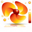 Heating Fan — Stock Vector