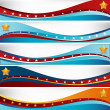 USA Flag Wave Set — Stock Vector