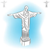 Christ Redeemer Statue — Stock Vector