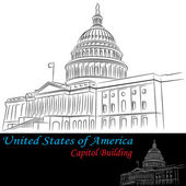 United States of America Capitol Building — Stock Vector